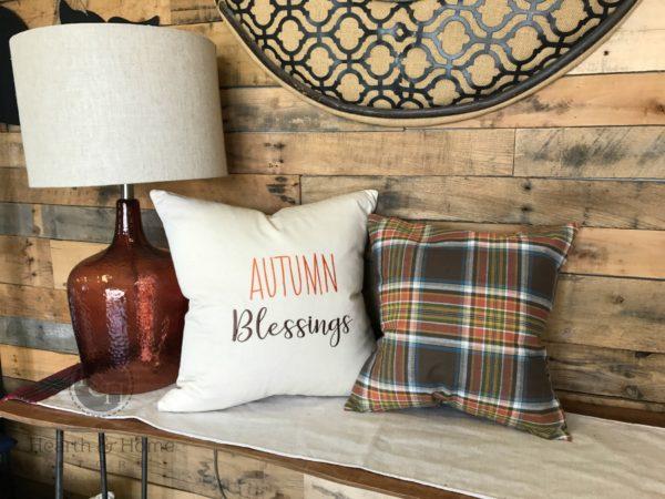 fall farmhouse pillow