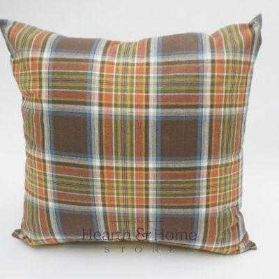 Fall Plaid Farmhouse Pillow
