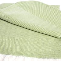 Sunbrella Gingko - Natural Chevron Throw
