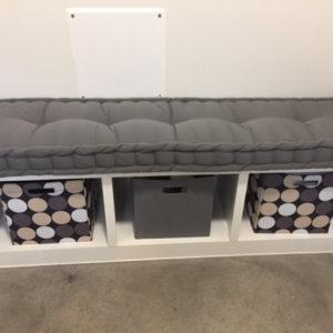 hand tufted cushion Ikea Kallax charcoal