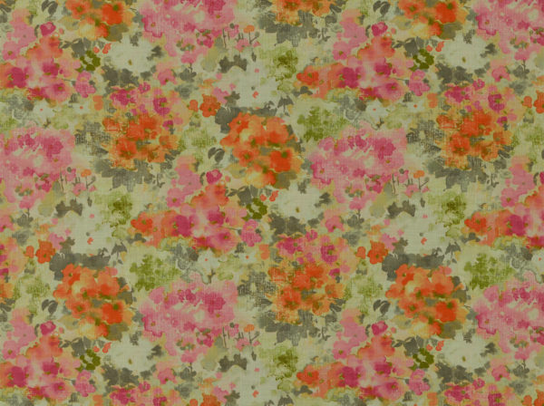 Watercolor Floral Pink/Orange Pillow Coverr