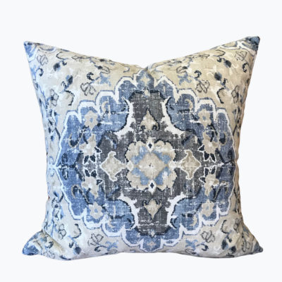 Mosaic Tan Denim Pillow Cover