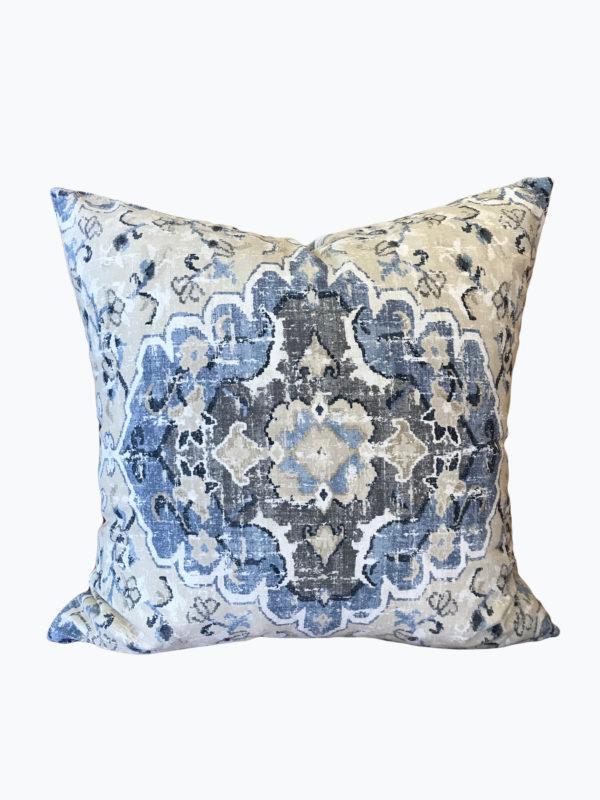 Mosaic Tan Denim Pillow Cover