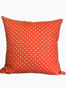 Orange Polka Dot Pillow Cover
