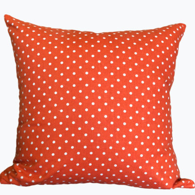 Orange Polka Dot Pillow Cover