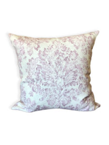 Purple Damask Pillow Cover