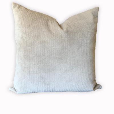 Tan Textured Velvet Pillow Cover