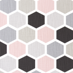 Hexagon Blush Grade A